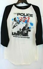 The Police 1982 Ghost In The Machine Tour Shirt Sting Stewart ~ Vintage Size Xl