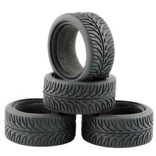 4pcs 1/10 On-road Rc Car 28mm Soft Flat Speed Drift Rubber Tire Set for HPI