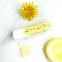 2 Lemon Sunflower Shea Butter Natural Handmade Lip Balm Chapstick moisturizer