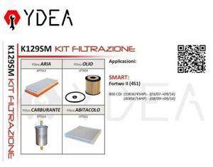 Filter Set Smart Fortwo II (451) 800 CDI 33KW/45HP 40KW/54HP - Ydea K129SM