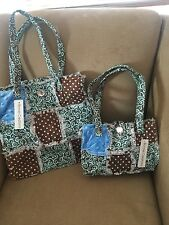 Patchwork quilt rag bag 2 piece set, shabby chic