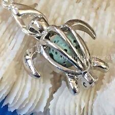 New Aromatherapy diffuser Sea Turtle Necklace Essential Oil Green Lava Stone