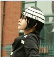 NEW Soul Eater Death The Kid Short Black White Cosplay wig