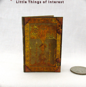 ENCANTUS MAGICAL TEXTBOOK Miniature Book Dollhouse 1:6 Scale Illustrated Book