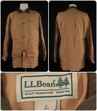LL Bean Men's Sz L Tall Coat Jacket Canvas Corduroy Tall Fishing Hunt Vintage