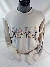 VINTAGE BVD New York City Sweatshirt Large L 1995 Twin Towers Made in USA
