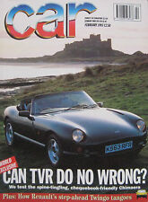 CAR 02/1993 featuring TVR Chimaera, Alfa Romeo, Vauxhall, Lancia, Ferrari, AC