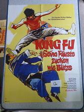 Qu Original Filmplakat Karate King Fu SEINE FÄUSTE ZUCKEN WIE BLITZE  Ku Feng