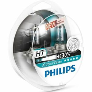 Blister 2 Lamps Light Bulbs Philips H7 x-Treme Vision +130% White Light Ice