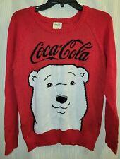 Women's Coca-Cola Polar Bear Red Christmas Holiday Sweater Size Medium NWT