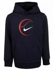 Nike Boys Baseball Hoodie Sweatshirt Navy Blue Size 5 New with Tags