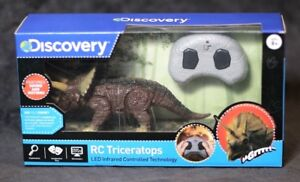 DISCOVERY RC Triceratops ROARS Motorized Legs AGE 8+ Remote Control Dinosaur LED