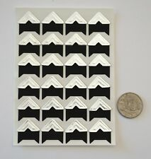 NO 545 Scrapbooking -24 Silver Photo Picture Adhesive Corners Stickers Scrapbook