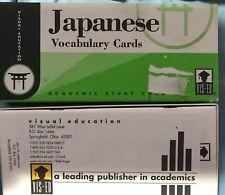 Japanese Vocabulary Cards Visual Education Academic Study Set 1000 Cards Vis-Ed