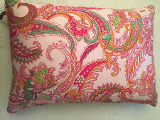 RALPH LAUREN PINK GREEN YELLOW ORANGE PAISLEY THROW PILLOW EUC