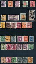 NEW ZEALAND 1907-1954 **(33) OFFICIALS, INSURANCE & MORE BOB'S**; CV $90
