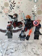 Six Lego Marvel Mini Figures Captain America Falcon Black Panther Bucky Winter