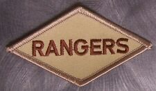 Embroidered Military Patch U S Army Rangers Diamond  NEW desert