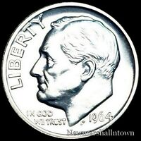 1964 Roosevelt Mint Silver Proof Dime ~ Coin from Original U.S. Proof Set
