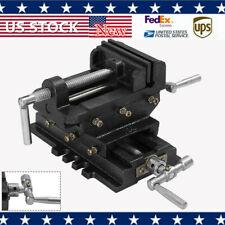 4 Cross Slide Vise Drill Press Heavy Duty Metal Milling 2 Way X Y Clamp Machine