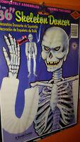 "1984 BEISTLE 01746 HALLOWEEN DECORATION Skeleton DANCER Prt 2 SIDES 36"" RETIRED!"