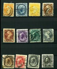 Canada NEWFOUNDLAND  Good set Old clasic stamps VF used (17)