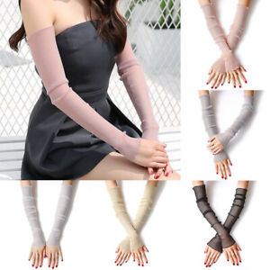 Womens Summer Lace Arm Sleeves Anti UV Sun Protection Long Gloves Leg Covers