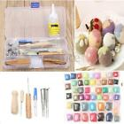 50 Color DIY Wool Fibre Needles Felt Tool Set + Needles Felted Mat Starter Craft