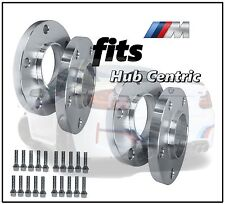 4 Pc 10mm & 15mm BMW Hub Centric Wheel Spacers Plus 20 Conical Lug Bolts Chrome