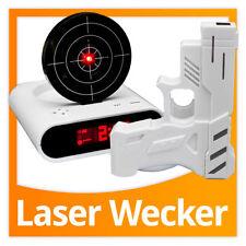 Gadget Wecker mit Zielscheibe und Infrarot IR Laser Pistole mit Sprachansage!