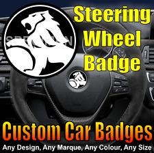 Vauxhall Monaro Steering Wheel Badge (black/chrome) HSV / Holden / VXR8