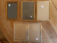 Lot of 4 VINTAGE Frames for 5 pictures Photo 5x7 size Retro Mod MCM Mid Century
