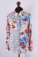 Ladies Desigual Multicolored Long Sleeve Shirt Size XL