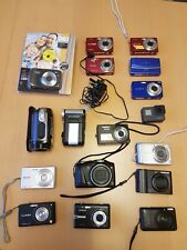 Joblot of digital camera's / camcorders, Canon, Lumix, Samsung, mostly working