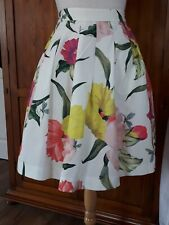 "GORGEOUS Ted Baker ""Muirin"" 50s style taffeta pleated swing skirt Size 0 6 8"