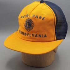 552801ec7b24f Vintage Bethel Park Lions Club Pittsburgh Mesh Snapback Trucker Hat Cap