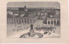 Guerra Franco-Prussiana 1870 - Nancy - stampa inglese coeva originale
