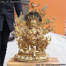 Chinese Buddhism copper Bronze Statue Sadbhuja-Mahakala Dharmapala Buddha statue