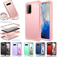 For Samsung Galaxy S10 & S20 Plus 5G Rubber Shockproof Heavy Duty Hard Back Case