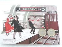 2013 British London Underground BU £2 Two Pound 2 Coin Set Folder Unc