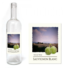 Wine Bottle Label Self Adhesive Home made Brew 30 PACK Labels SAUVIGNON BLANC
