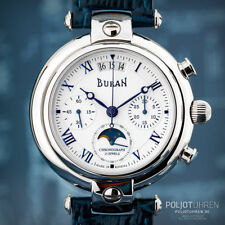 BURAN Poljot Chronograph 31679 Russian mechanical moon phase watch Mondkalender