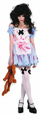 Ladies Zombie Girl Halloween Fancy Dress Costume Scary Womens Outfit UK 10-14
