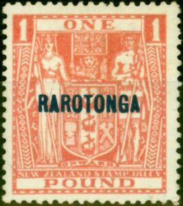 Rarotonga 1931 Pink SG98 Very Fine Lightly Mtd Mint