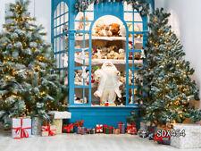 Vinyl Photo Backdrop Background Studio Props 10x8Ft Christmas Santa Claus Shop