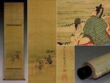 JAPANESE Oriental Calligraphy Painting Hanging Scroll KAKEJIKU eastbound