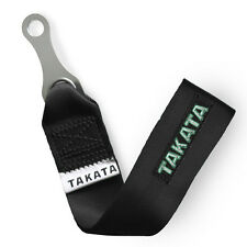 UNIVERSAL JDM RACING BLACK TOW / TOWING  STRAP HOOK
