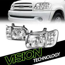 For 05-06 Tundra Double Crew Cab/Sequoia Chrome Headlights Signal Corner Lamp NB