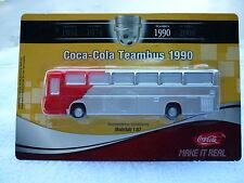 Mercedes-Reisebus O 303 RHD / Coca-Cola-Teambus 1990 - KuSt. -1:87/HO -NEU/OVP !