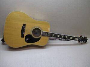 Epiphone FT-350BL Vintage Blonde Dreadnought Acoustic w/ Case -Gorgeous !